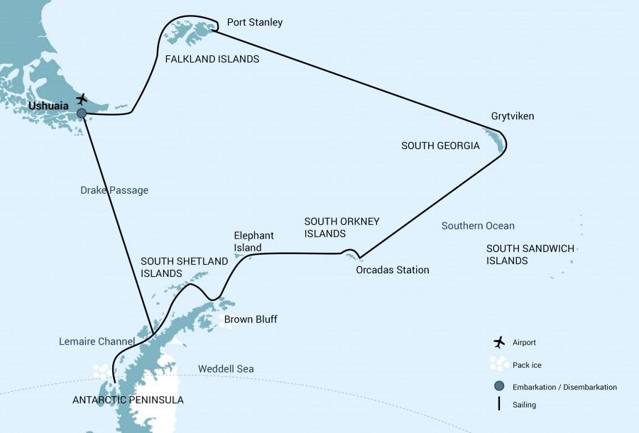 Falkland Islands - South Georgia - Antarctica